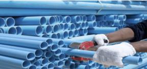 PVC pipe being cut