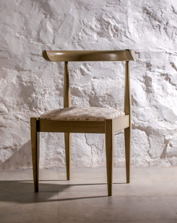 kam ce kam, tera chair, solid ash, stained timber, khaki, green