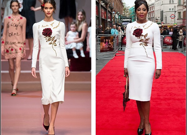 Runway to Red Carpet: Mo Abudu in Dolce and Gabbana Fall 2015 RTW
