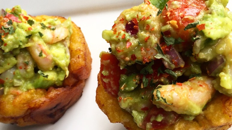 My Weekend Recipe: Shrimpamole in Plantain Cups