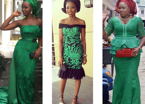 Asoebi Styles #89: Green With Pride!