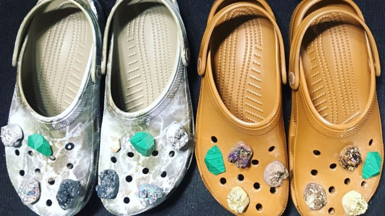Ladies, Will You Wear These Embellished Crocs?