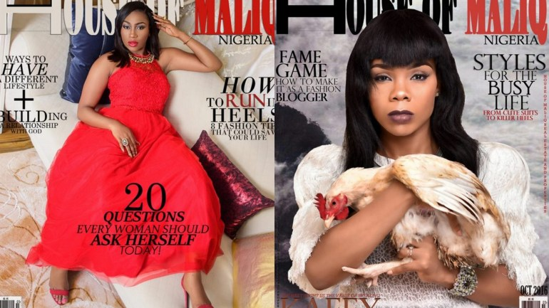Ebube Nwagbo and Kaffy Cover October Issue of House of Maliq Magazine | See Photos from Editorial Spread
