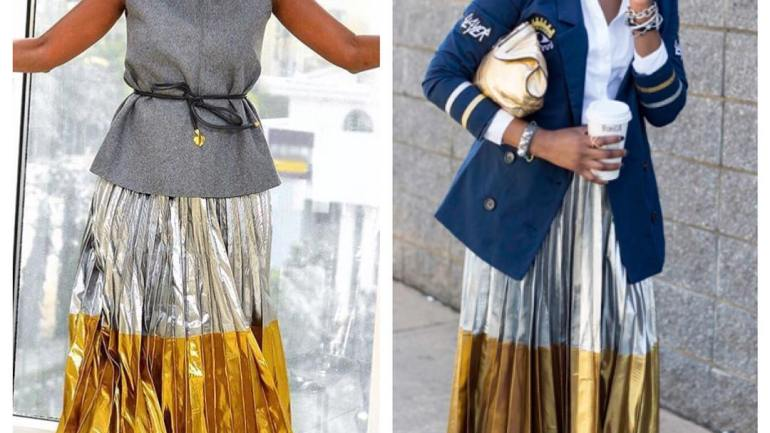 Who Wore It Better: The Metallic Maxi Skirt
