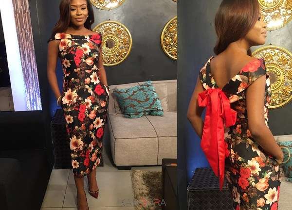 LOTD:  Marcy Dolapo-Oni Is Repping Christmas In Floral Print Midi Dress!