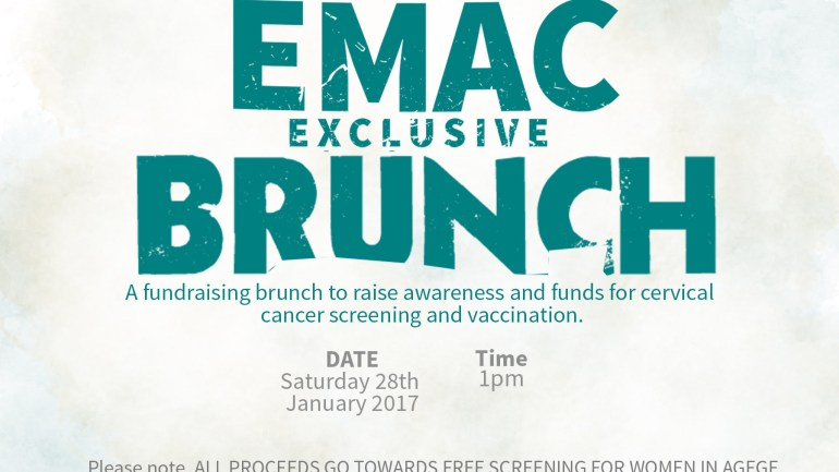 You Are Invited To The EMAC Exclusive Brunch To Raise Awareness For Cervical Cancer!