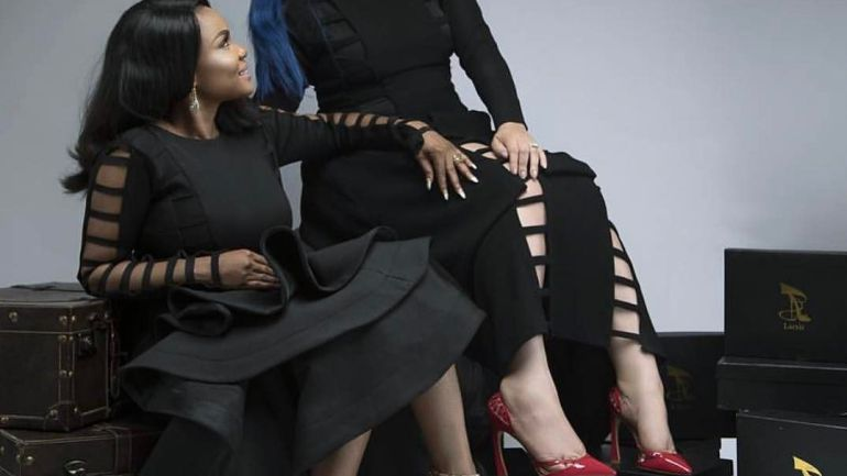 Nollywood Actors: Monalisa Chinda And Iyabo Ojo Unveil The New Larrit Luxury Shoes