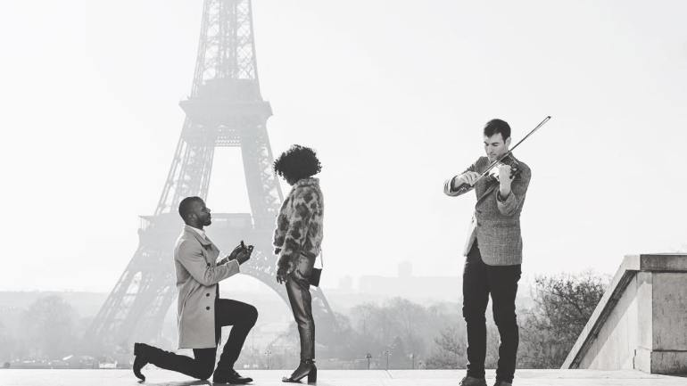 Paris For Two – Check Out Emotional Proposal of Shar Davis & Deji In The Love City!