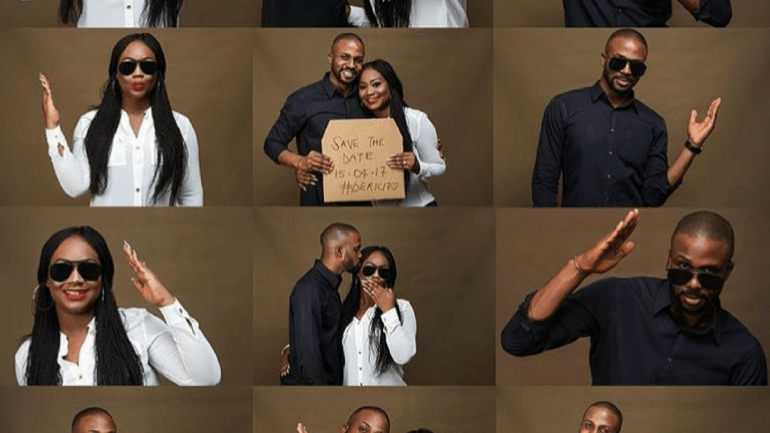 """See Debola & Rico Cute """"Save The Date"""" Pre-wedding Photo Session – Three Heads Are Better Than One!"""