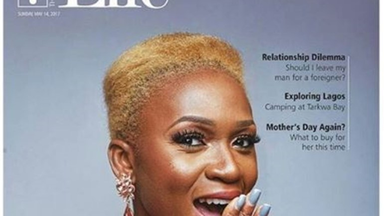 Waje Rocks Gold Hair Cut On The Cover Of Guardian Life