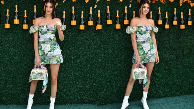 Kendall Jenner Wins Floral Style In This Dolce & Gabbana Number