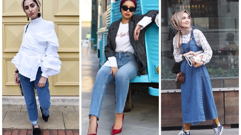 Hijab And Turban Styles: Denim, The Cool Way!