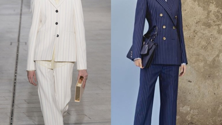 Are Pant Suits Back In? Four Pant Suit Looks Off Spring/Summer 2018 Collections