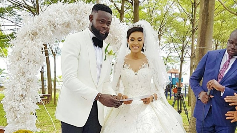 Weddings: Happening Now As Omoniyi Makun Ties The Knot With Grace Amarachukwu! #thecasuals