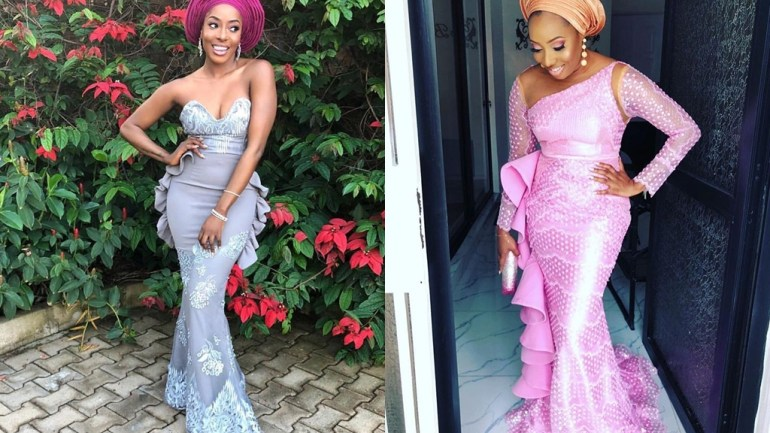 Aso-Ebi Styles #133: A Touch Of Ruffles & Glitter!