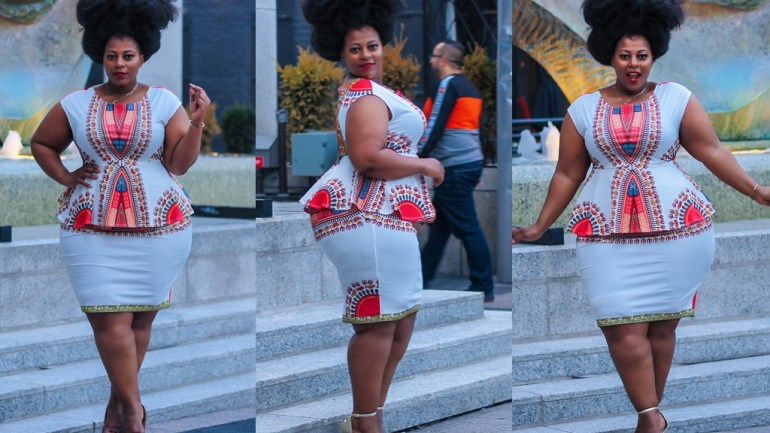LOTD: Plus Size Model, Nakitende Esther Is Stunning In Dashiki Two-piece!
