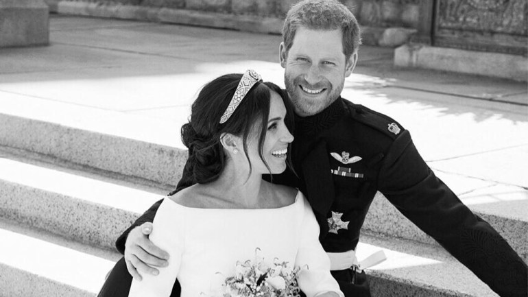 Photos: First Official Couple Portrait Of Meghan Markle & Prince Harry