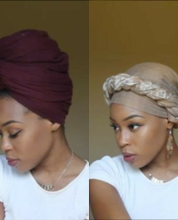 4 Quick and Easy Head-wrap/Turban Styles