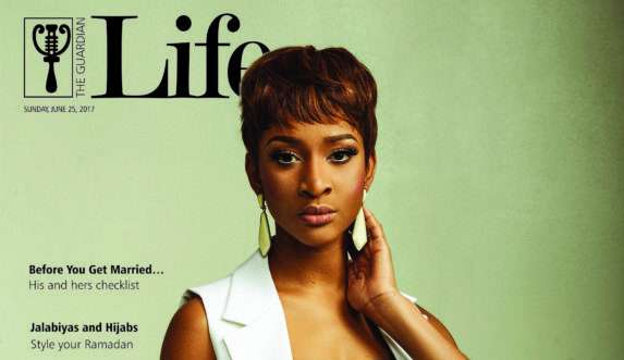 Adesua Etomi Is The Cover For Guardian Magazine's Latest Issue