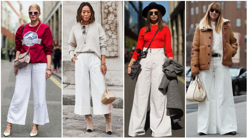 71e73f5fac5 White Wide Leg Pant Outfits- Wide leg has a way of making fashion  statements. If you are tall