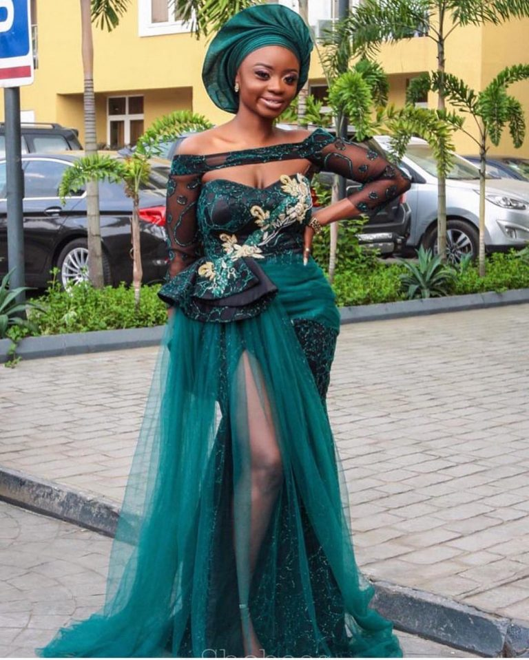Aso Ebi Styles #146: Steeping Into Your Owambe In Style