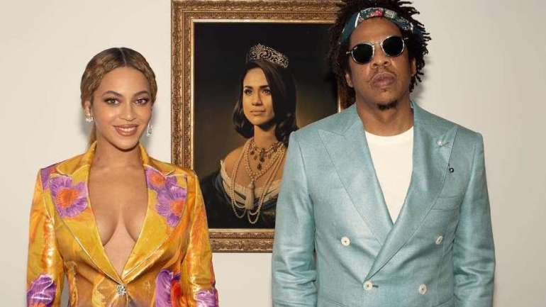 Check Out The Story Behind Meghan Markle's Painting In Beyonce And Jay-Z's #BritAwards Acceptance Video