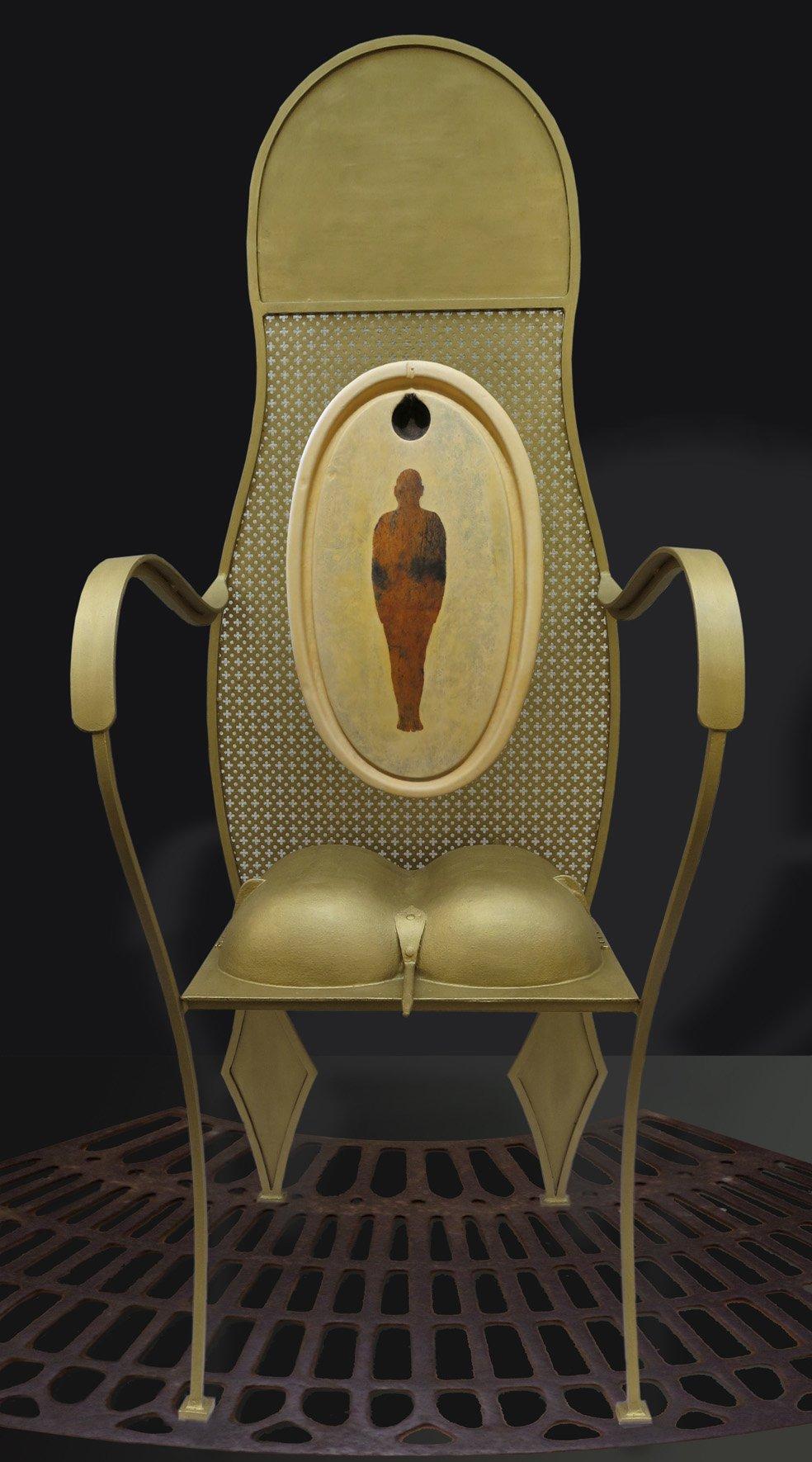 confession du siège 3 oeuvre artiste contemporain Kamel Yahiaoui