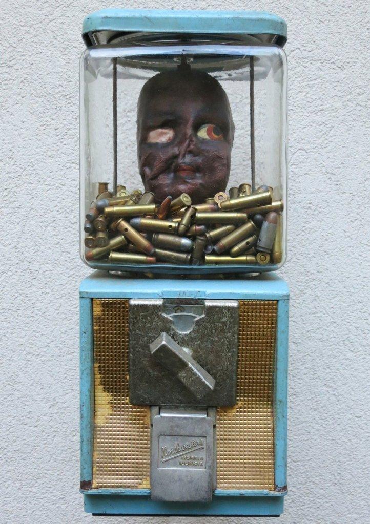 Enfant soldat 2 oeuvre artiste contemporain Kamel Yahiaoui