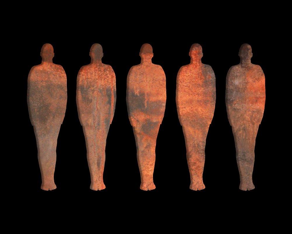 Les damnés de la terre oeuvre artiste contemporain Kamel Yahiaoui