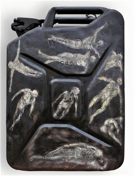 l'anamnèse du jerrican 1 oeuvre artiste contemporain Kamel Yahiaoui