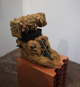 Paroles séquestrées face gauche oeuvre artiste contemporain Kamel Yahiaoui