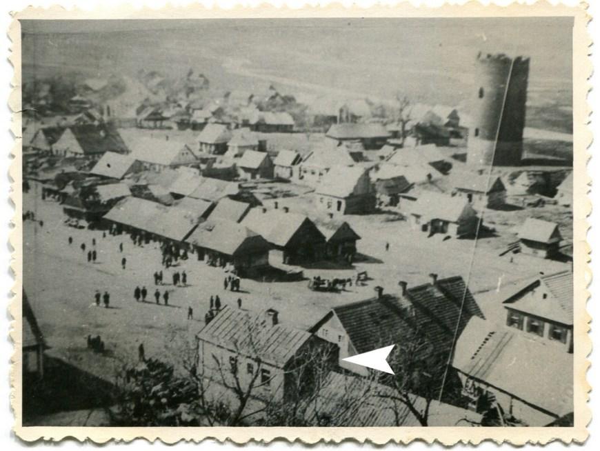 Дом указан стрелкой, 1924 год. Из архива Екатерины Янчук
