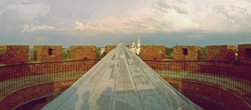 Современный купол на башне