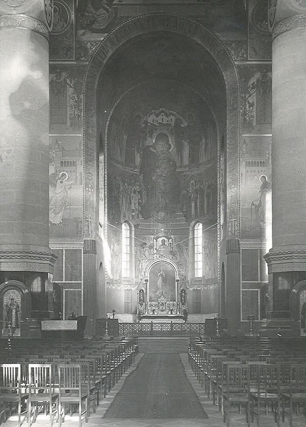 Интерьер собора в 1915 году
