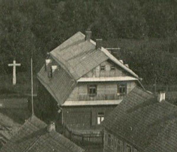 Деревянная синагога на улице Пивненко, довоенное фото с Симеоновской горки