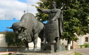 Скульптурная композиция Памятник градорубу Алексе