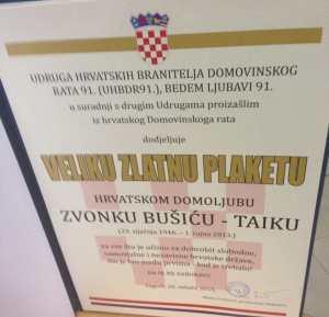 plaketa Bušić