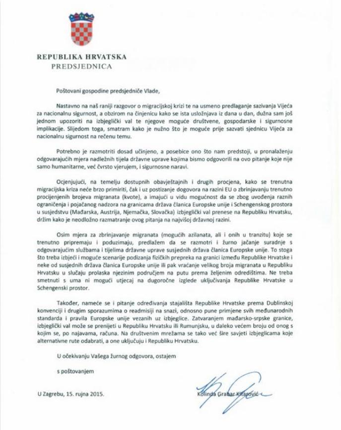 pismo kolinda
