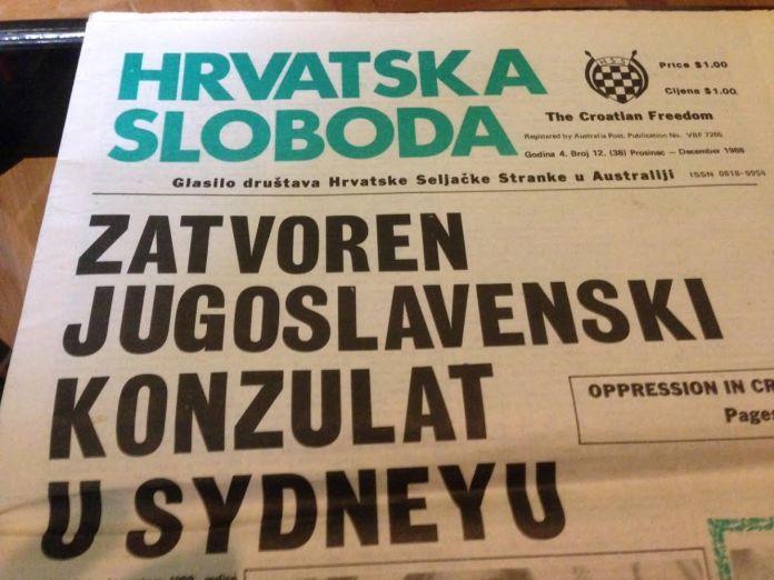 Zatvaranje jugoslavenskog konzulata u Sydney-u