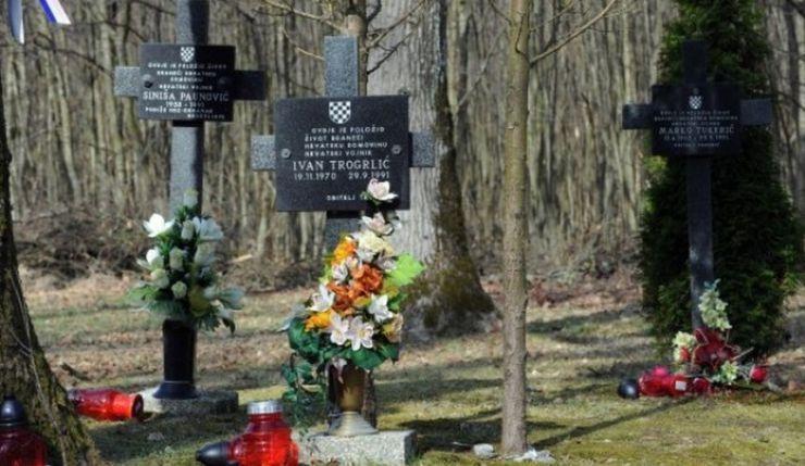 Spomen obilježje hrvatskim vitezovima iz Bjelovara na mjestu pogibije