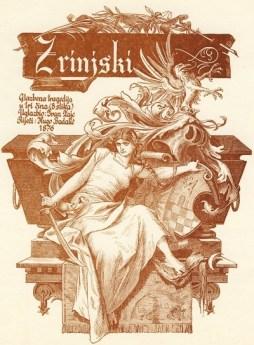 Plakat s najavom premijere opere Nikola Šubić Zrinjski iz 1876.