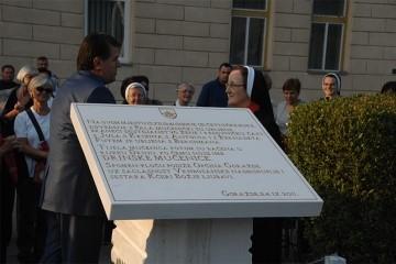 Spomen ploča u čast Drinskim mučenicama otkrivena je na obali Drine kod Goražda 25. rujna 2011. godine