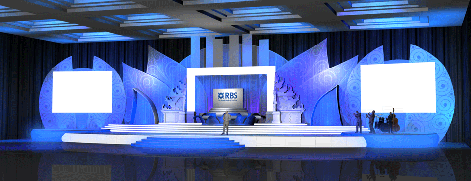 RBS Launching Stage Design - Royal Bank of Scotland