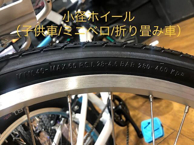 """""""小径バイクのタイヤ空気圧表示部分"""""""