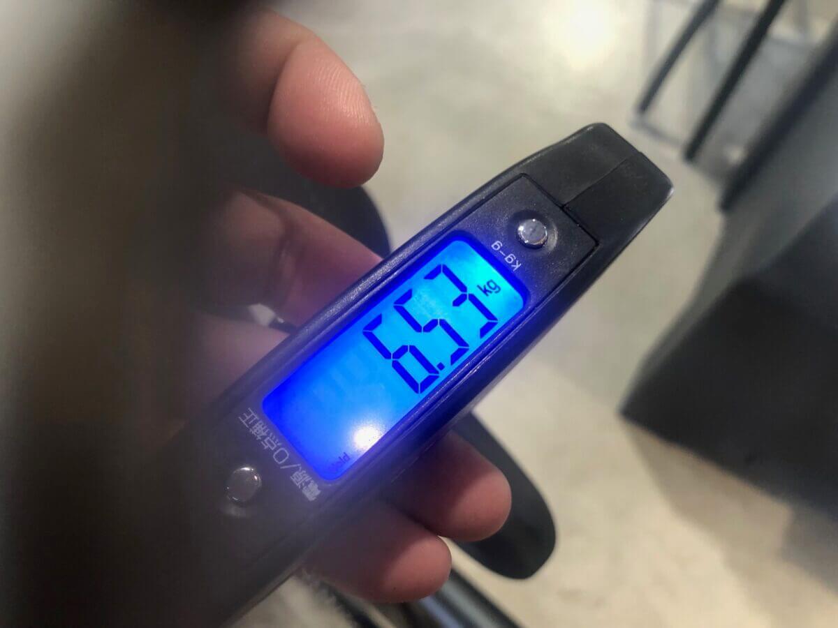 6.5kgの重量の写真