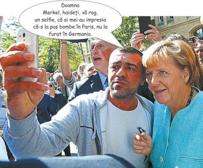 Bule selfie cu Merkel