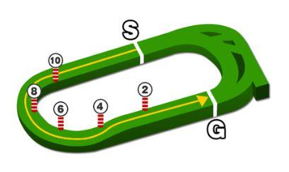 京王杯2歳ステークスコース図