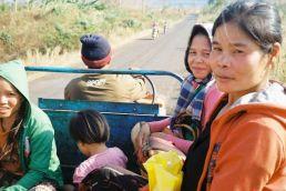 Hitchhiking, laos