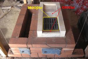 Naglalagay kami ng brick oven para sa isang paliguan