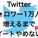 Twitterでフォロワー1万人に増やすまでツイートやめない! Part.1